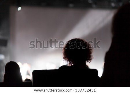 theater audience - stock photo
