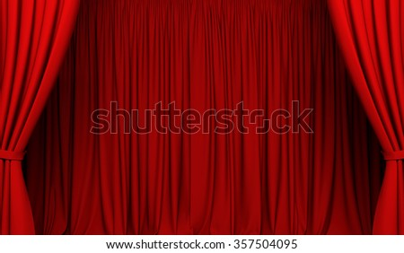 Theater curtain. Act drape