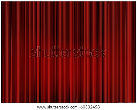 Theater curtain background - stock photo