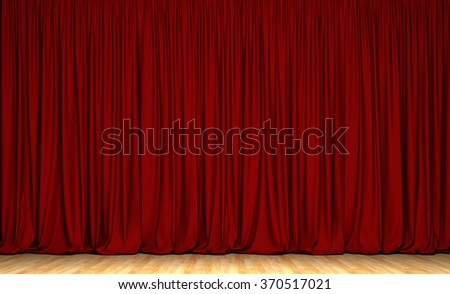 Theater curtain background. Act drape