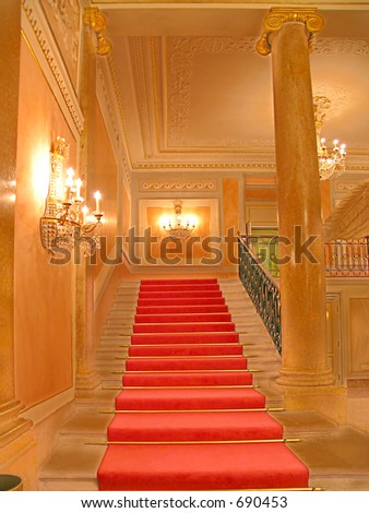 Theater entrance in Venice - stock photo