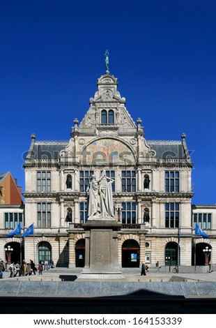 Theater in Gent, Belgium,  - stock photo