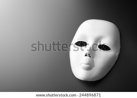 Theater mask on grey - stock photo