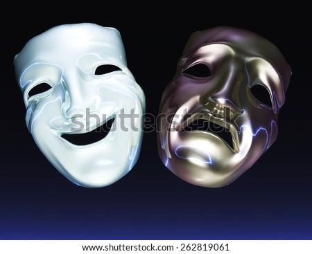 Theater Masks - stock photo