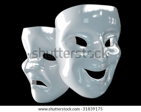 theater masks - stock photo