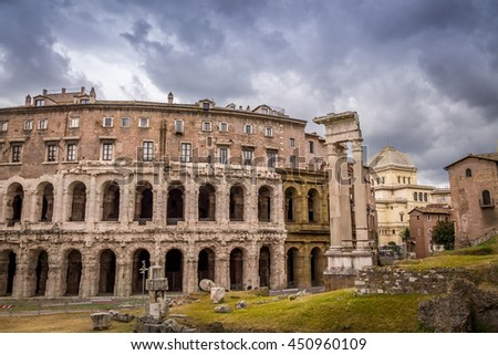 Theater of Marcellus - Rome, Italy - stock photo