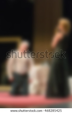 Theater play theme creative abstract blur background with bokeh effect