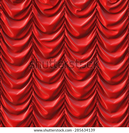 theater red curtains. presentation.