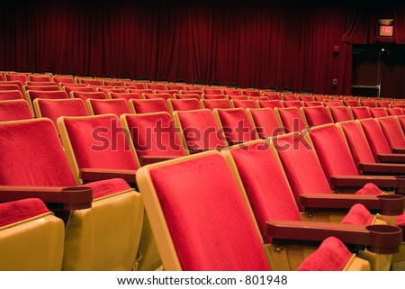 Theater seating - stock photo