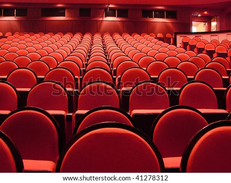Theater seats in the Cairo Opera House - stock photo
