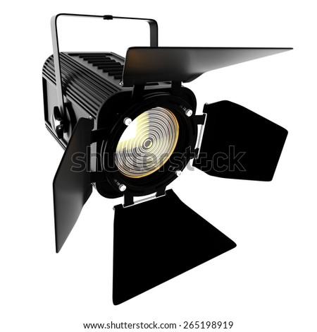 Theater spotlight - stock photo