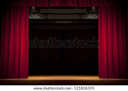 Theater stage 1 - stock photo