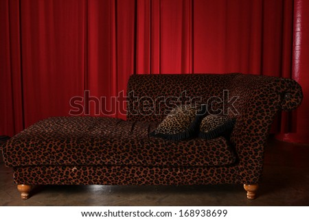 Theater Stage Drape Curtain Elements Easily Add and Design Background - stock photo
