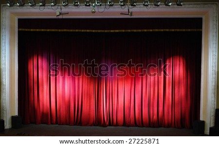 Theater stage. Theater interior. - stock photo