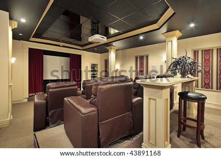 Theater with columns - stock photo
