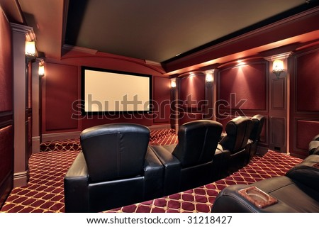 Theater with large chairs - stock photo