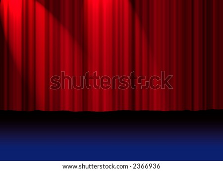 Theatre Curtain - stock photo