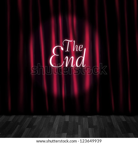Theatre Curtain Close Or Stage Curtain Call In A Depiction Of A Movie Ending Screen At A Vintage Cinema - stock photo