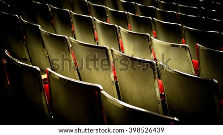 Theatre or theater seating - stock photo
