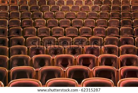Theatre seats - stock photo