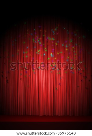 Theatre stage - stock photo