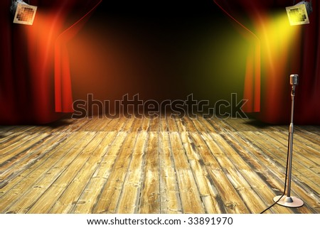 Theatrical stage - stock photo