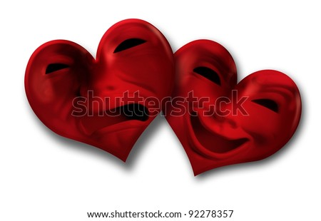 Theatrical Valentines - stock photo
