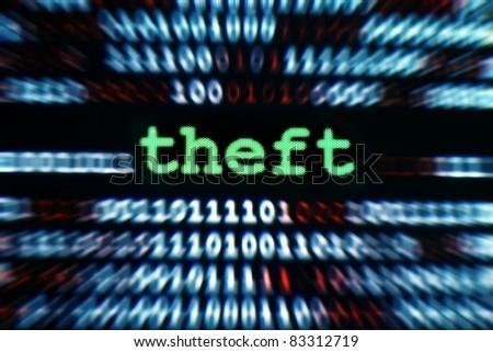 Theft - stock photo