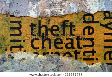 Theft and cheat - stock photo