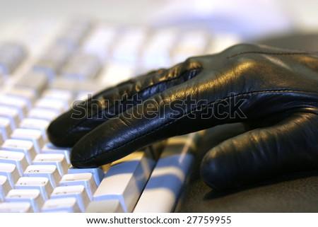 Theft of data - stock photo