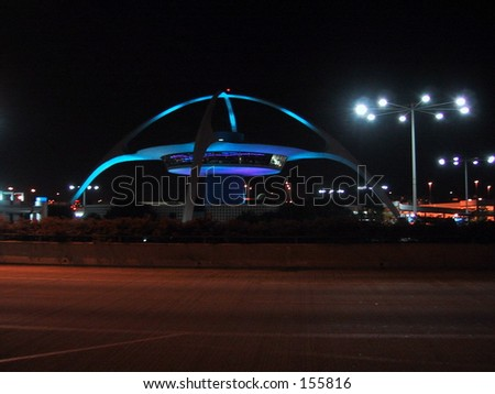 Theme Building, Los Angeles Airport (LAX) - stock photo