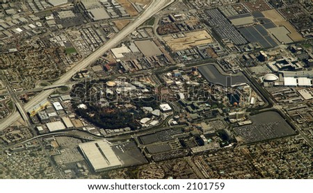 Theme park in Los Angeles Area - stock photo
