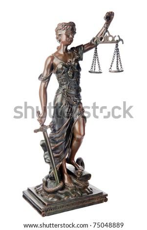 Themis Mythological Greek Goddess Symbol Justice Stock Photo 100