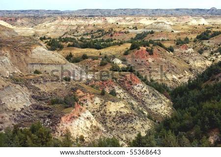 Theodore Roosevelt National Park, North Dakota - stock photo