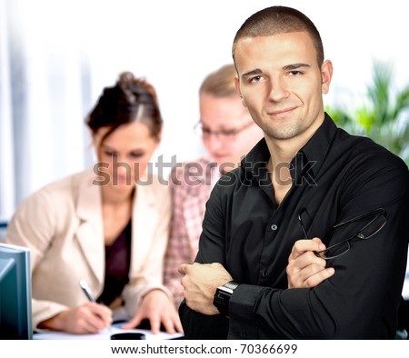 theoffice portrait of young a man - stock photo