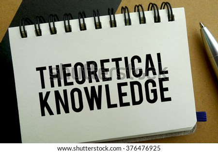 Theoretical knowledge memo written on a notebook with pen