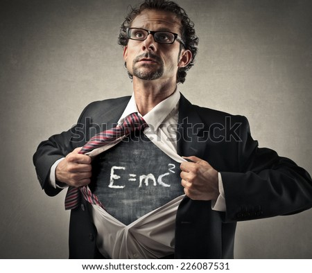 Theory of relativity  - stock photo