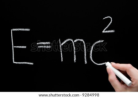Theory of Relativity - stock photo