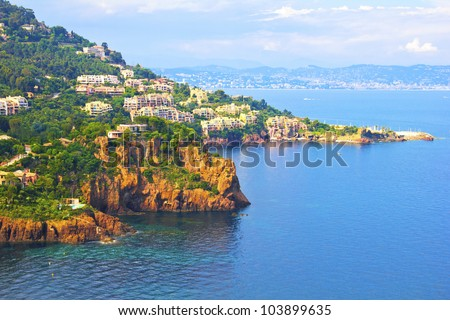 Theoule sur Mer, France - stock photo