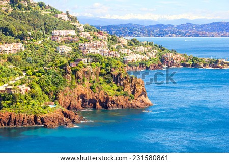 Theoule sur Mer, South of France - stock photo
