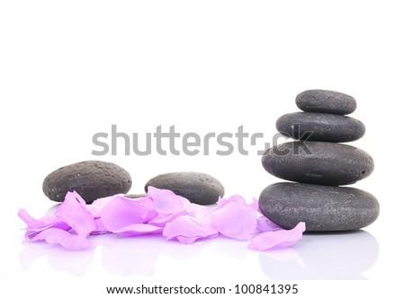 Therapeutic volcanic stone. - stock photo