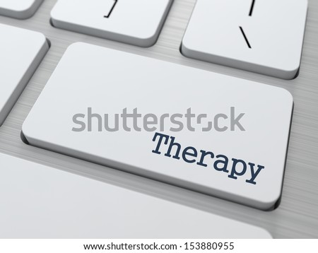 Therapy - Medical Concept. Button on Modern Computer Keyboard. 3D Render. - stock photo