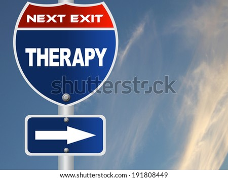 Therapy road sign
