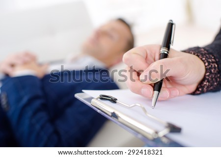 therapy session - stock photo