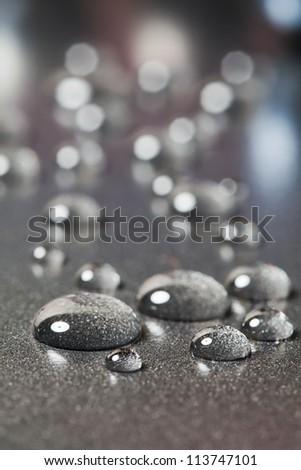There are a few colourless gliserien  drops. - stock photo