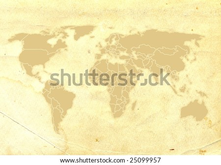 There is a antique grunge yellow background - stock photo
