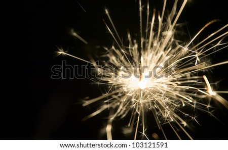 There is a background made from light of sparkler