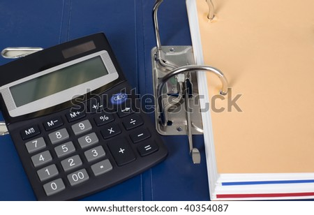 There is a block of documents and calculator for finance calculations