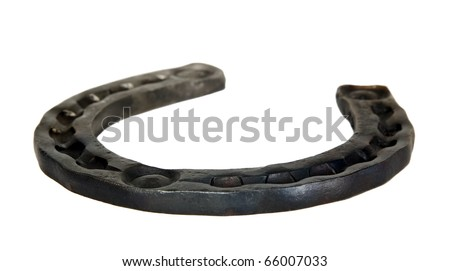 There is a horse shoe, the symbol of luck - stock photo