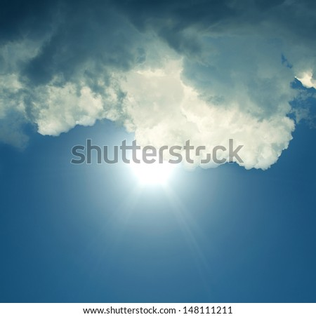 There is a sun because of clouds soon.  - stock photo
